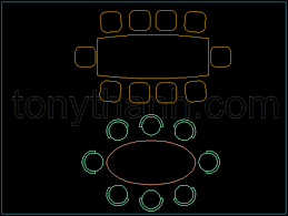 dining chair autocad. 10 chair dining set, people table dwg cad block autocad drawing