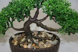 office bonsai. Bonsai Tree In Oval Pot, Artificial Plant Decoration For Office And Home 14 Cm
