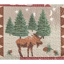 Moose Lodge Quilt Set, 3 Pieces - 210458, Quilts at Sportsman's Guide & Central moose motif for backwoods charm · Moose Lodge Quilt Set ... Adamdwight.com