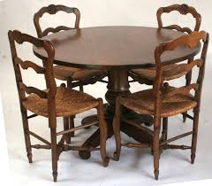 splendid design antique round dining table inventia 345 french provincial old world distressed white room set