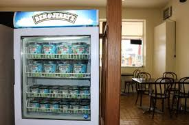 Ben And Jerry's Vending Machine Classy We Serve Ben And Jerry's Ice Cream In Store Picture Of Bullseye's