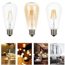 Edison Retro Vintage Led Bulb E27 2w 4w 6w 8w Filament St64 Light