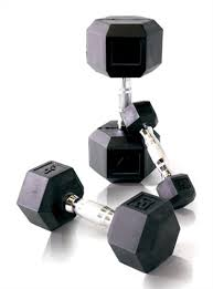 Rubber Coated Hex Dumbbell Set With Rack Magnificent CAP Rubber Coated Hex Dumbbell Set 3232 Lb GymStore