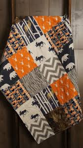 baby boy hunting quilt baby quilt