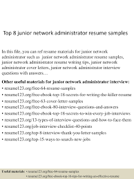 Network Administrator Resume Examples Top224juniornetworkadministratorresumesamples224lva224app622492thumbnail24jpgcb=22424322473224629 22