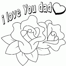 Small Picture i love dad coloring print pg drawingdadheartflowerlikes