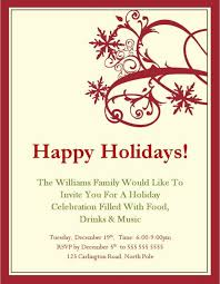 holiday template word party invitation template word useful holiday celebration simple