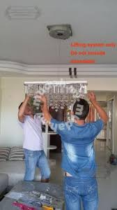 lift winch chandelier crystal remote control home appliances kitchen for in kuchai lama kuala lumpur