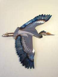 wall arts zoom blue heron outdoor wall art blue heron metal wall inside cur blue