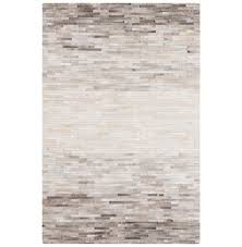 kashan global bazaar brick grey ivory ombre cowhide rug 2x3 kathy kuo home