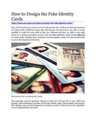 Fake Cards Design By id How Issuu Identity Fake To qCwEISvf