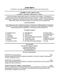 Journey Level Pipefitter Resume Template Premium Resume Samples
