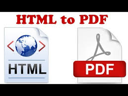 How To Convert HTML to PDF Document - YouTube