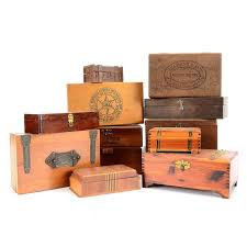 Decorative Wood Boxes With Lids Assorted Decorative Vintage Wooden Boxes EBTH 17