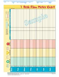 Pediatric Peak Flow Chart Pediatric Asthma Peak Flow Use Tearpad By Pritchett Hull