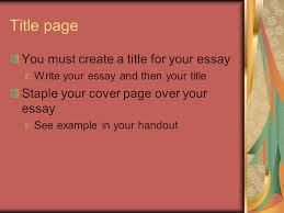 Essay Cover Page Essay Cover Page Creator Cut And Paste To Get Your Apa Title Page