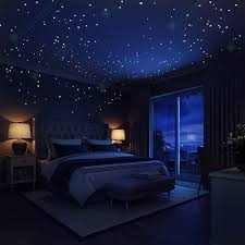 glow in the dark stars wall stickers 252 dots and moon for starry  on star wall art designs with moon bedroom kemist orbitalshow