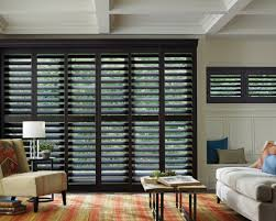 black plantation shutters. Exellent Shutters Black Plantation Shutters For Sliding Glass Doors In L