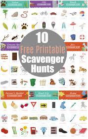 Printable Kids 10 Free Scavenger Hunt Printables For Kids Must Have Mom