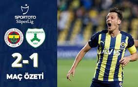 Fenerbahçe (2-1) Giresunspor Maç Özeti İzle Youtube Bein Sport FB GZT  Giresun Özet İzle - makrokedi