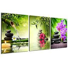Zen Painting <b>Wall</b> Art Decor - Canvas Painting Modern <b>Stone</b> Spa ...