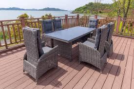 Outflexx Dining Set Grau Tisch 200x95 6 Sessel Gartenmoebelde