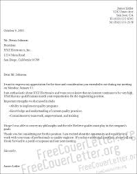 Electronics Engineering Cover Letter Sample Electronics Engineering Cover Letter Sample
