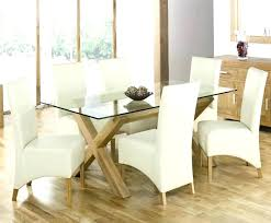 glass top dining table round tables modern with red chairs charming driftwood d