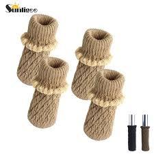 table leg floor protectors knitting wool furniture leg socks chair table leg protector pads chair leg