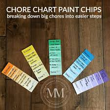 Paint Chip Chore Chart For Kids Mommy Moment