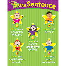 Star Student Chart Details About 5 Star Sentence Common Core Chart Gr K2 Creative Teaching Press Ctp6336
