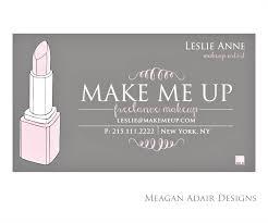 freelance makeup artist business cards free lance