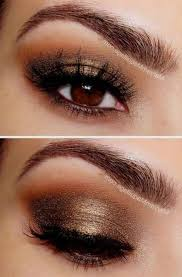 prom makeup for brown eyes and black dress 2018