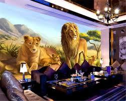 Beibehang Custom 3d Wallpapers Mooie Leeuw Dieren Behang