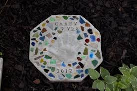 cute cement stepping stone