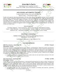 Sample Resumes For Teachers Elegant Math Teacher Resume Sample