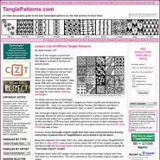 Tangle Patterns Amazing Linda's List Of Official Tangle Patterns Pearltrees