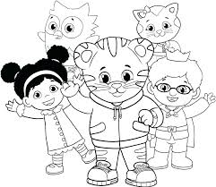Daniel Tiger Coloring Pages Plus Characters From Tiger Coloring