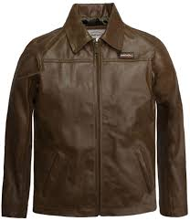 childrens tan brown leather jacket