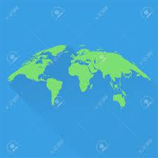 World Map Flat Design Stylish World Map In Green In Bulk Form Flat Design