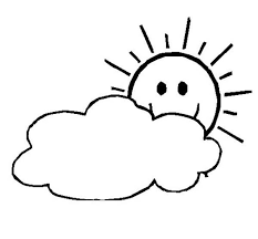 Small Picture The Sun is Shy and Hide Behind the Clouds Coloring Page NetArt