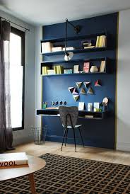 home office wall. contemporary office navy accent wall show off the home office nook in home office wall