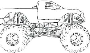 Monster Truck Coloring Pages To Print Free Printables For Toddlers