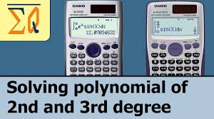 casio fx 115es and casio fx 991es plus solving polynomial 2nd and 3rd degree you
