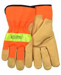 Kinco 1918 Hi Vis Orange Grain Pigskin Leather Palm Work Glove