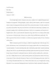 Reflective Essay Examples English Class English 1301 Reflective Essay