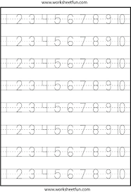 Counting To Kindergarten Worksheets A Wellspring Math Writing ...