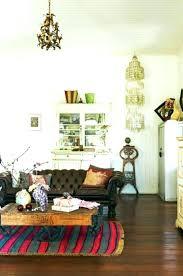 dark brown fur rug brown fur rug living room grey various pattern vases dark leather sofa
