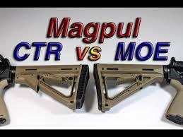 Magpul Moe Vs Ctr Stock Comparison Youtube