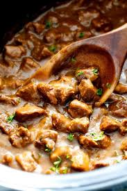 best crockpot beef tips gravy no